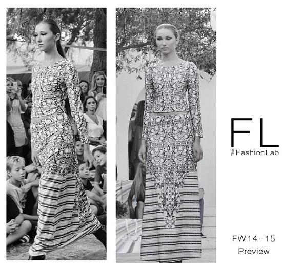 Skirt-top-motif-fashionshow