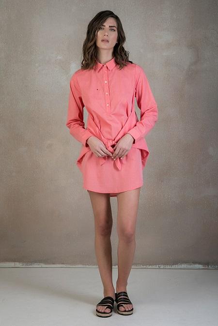 coral-shirt-dress