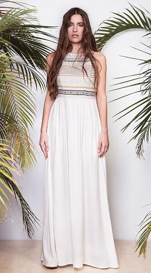 Motif-maxi-dress