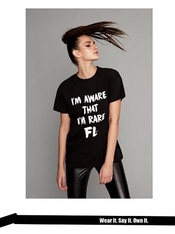 black T-shirt rare